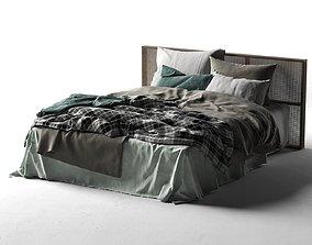 Queen Bed 2 3D