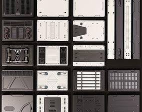 3D Sci Fi Panels KitBash