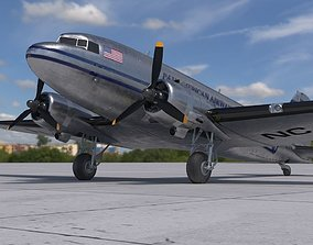 3D model DC-3 Pan American Airways System PBR