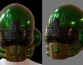 Helmet plastic mask protection ball shaped realtime 2