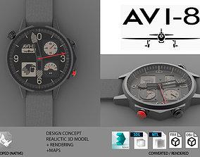Avi-8 Aeromexico Watch 3d Model VR / AR ready