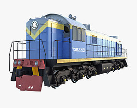 3D model Diesel Locomotive TEM-2