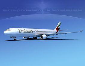 Airbus A330-300 Emirates 3D model