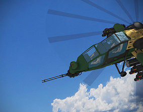 Atak T-129 Helicopter - 3D Max 3D animated