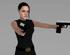 Lara Croft Tomb Raider Jolie ready for full color 3D 1