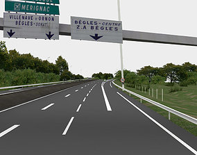 game-ready highway navigation 3D road viaduct