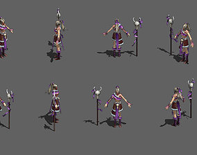 3D asset Female Wizard Master Warlock