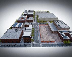 URBAN CITY SCENE 3D asset