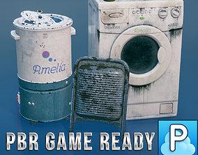 3D asset Modern washing machines