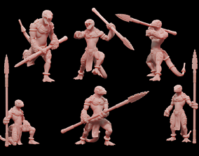 3D print model Lizardmen Spear