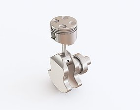 Engine 3D model industrial