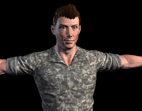 Army soldier 3D asset