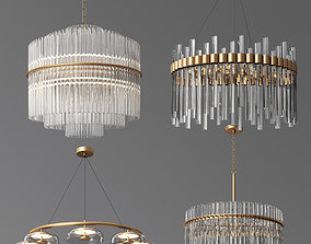 4 Ceiling Light Collection 3D model