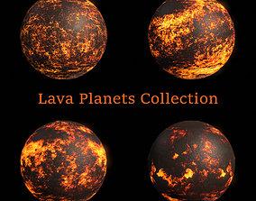 Lava Planets Collection - 8k PBR 3D