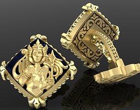 lock Zodiac signs Cufflinks Virgo 3D print model