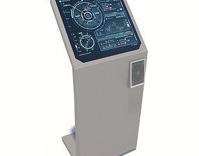 Interface kiosk 3D model game-ready