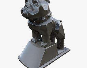 Hood vintage ornament dog 3D print model