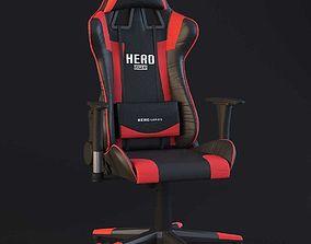 PC Gamer Chair Red Hero 3D model