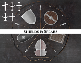 3D Medieval Spears and Shields Pack