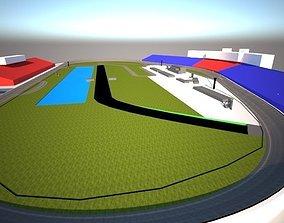 Daytona International 3D model realtime