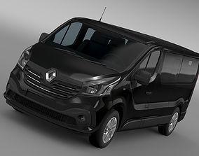 3D model Renault Trafic Minibus L2H1 2017