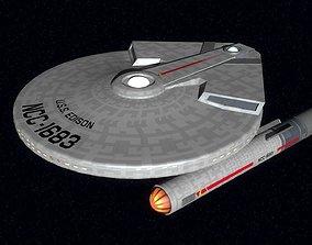 USS Edison TOS Hoover class light 3D model