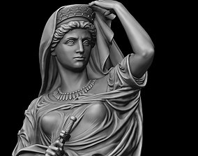 Lady with dagger Statue 3D printable model