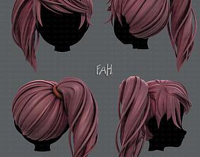 realtime 3D Hair style for girl V39