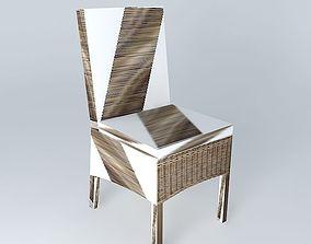3D model HAMPTON rattan chair houses the world