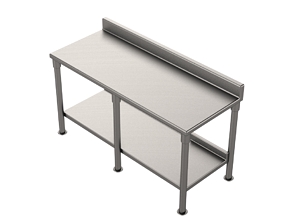 Stainless Steel Table 2 3D