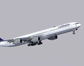 Airbus A340-600 Lufthansa 3D model low-poly