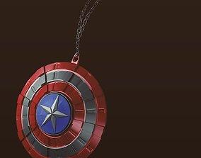 3D model Captain America shield necklace pendent