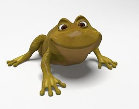 3D model Cartoon rigged frog