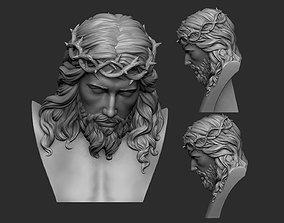 religious Jesus Bust 3D print model