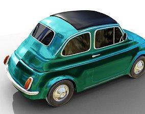 3D model VR / AR ready FIAT 500