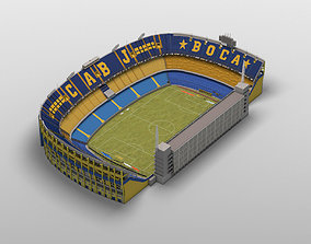 3D asset Low-poly Boca Juniors Stadium