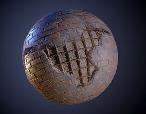 3D model Brick Rebar Damaged Seamless PBR Texture