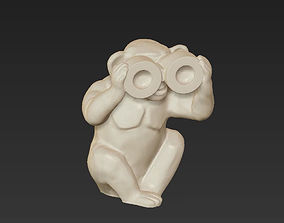 3D printable model horoscope symbol blind monkey chinese 2