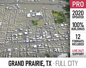 3D asset Grand Prairie - Dallas - city and surroundings