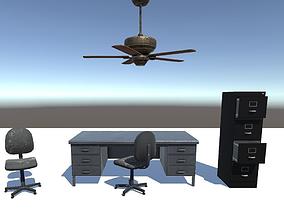 Old Office 3D asset