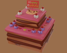 3D print model Cake Birthday V2