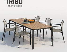3D model set Tribu Nodi armchair