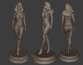 Black Cat 3D printable model woman