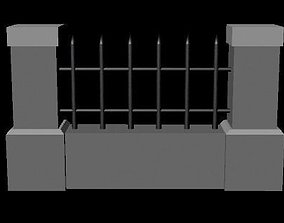 Gate and Border 3D model
