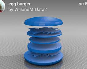 Egg burger 3D print model