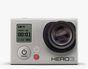 GoPro Hero3 action camera 3D model game-ready