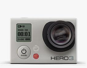 GoPro Hero3 Camera 3D asset