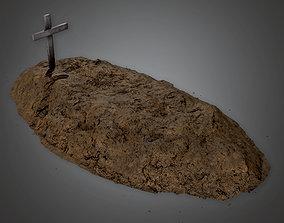 Cemetery Grave 1 - CEM - PBR Game Ready 3D asset
