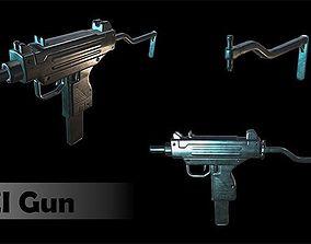3D asset Uzi Gun