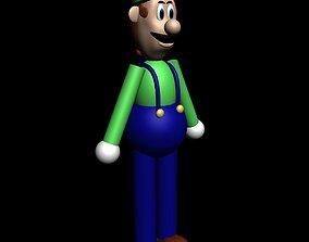 3D asset Luigi